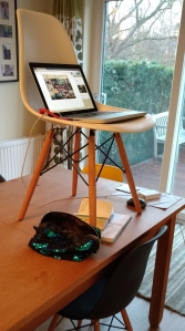 standing workspace desk writing