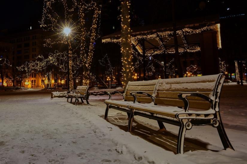 Winter words, dark, sparkle, light